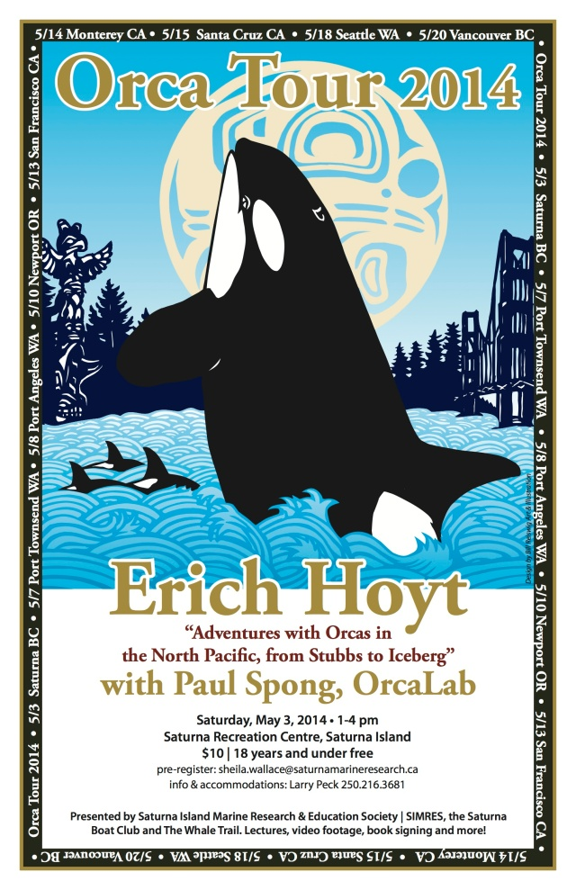 Erich Hoyt Whale Trail Saturna Poster copy