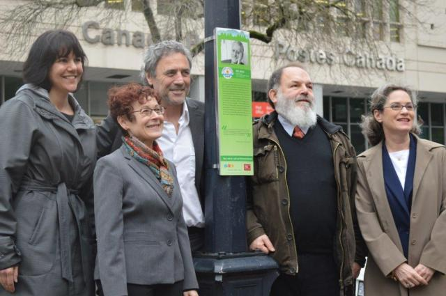 Left to Right:  Sandra Singh, Mary Lynn Baum, Alan Twigg, Yosef Wosk, Catherine Nicol